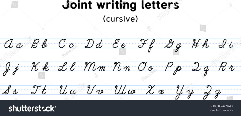 english alphabet joint writing alphabet