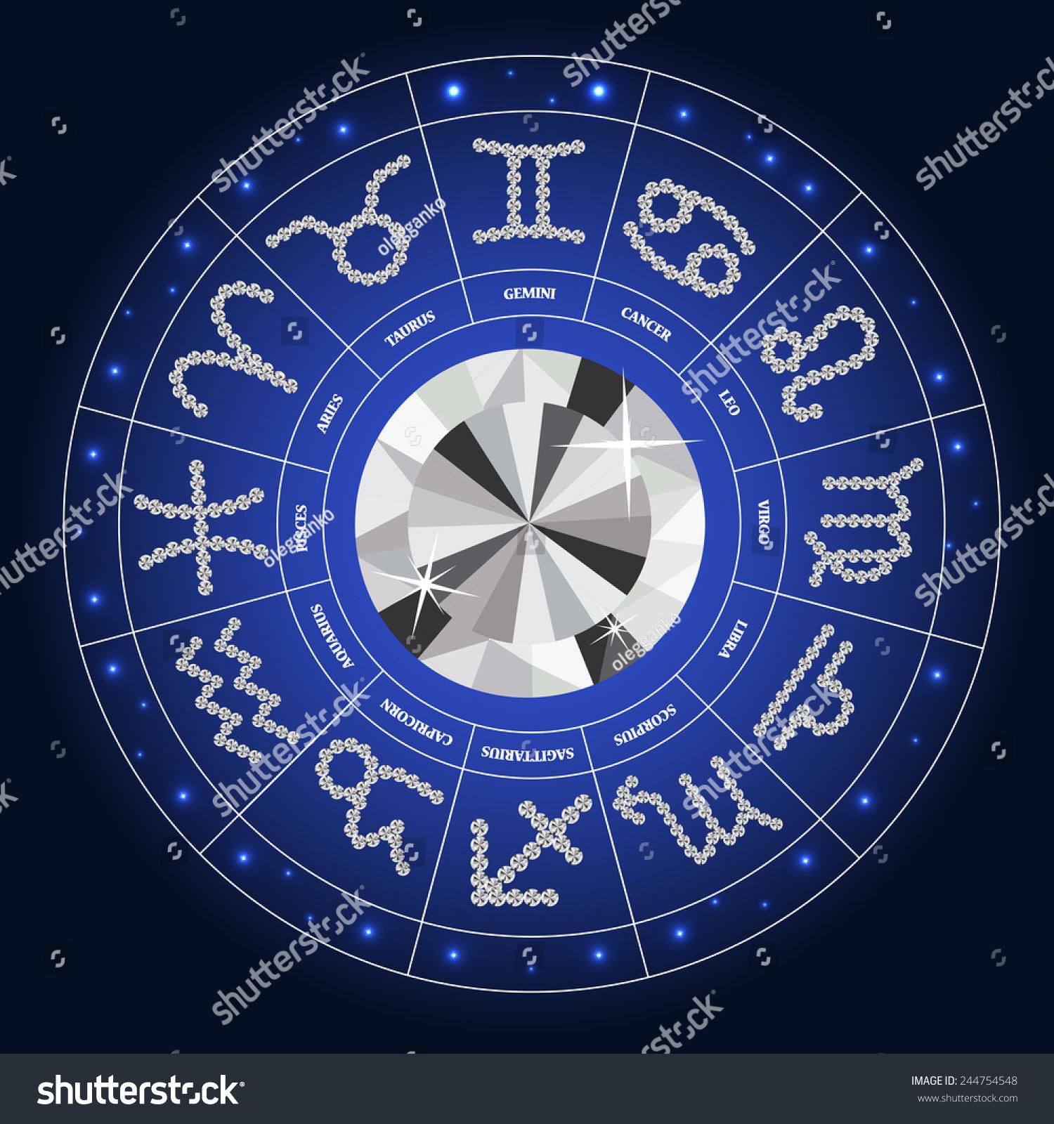 Set symbol zodiac sign diamond vector stock vector 244754548 set of symbol zodiac sign diamond vector illustration eps10 buycottarizona