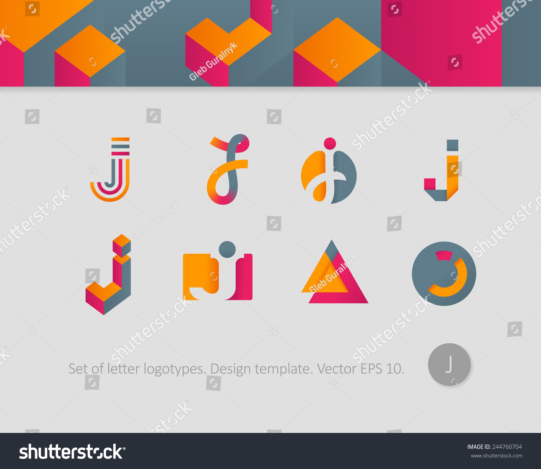 Logo Design Templates Stylized Letter J Stock Vector Royalty Free - Logo creator templates