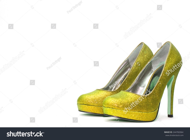 White Sparkly High Heels