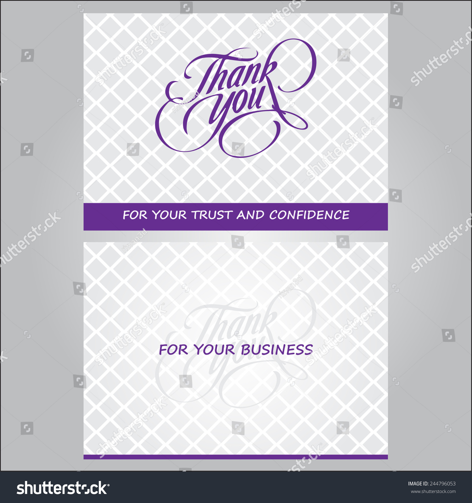 Thank You You Business Card Stock Vector 244796053 - Shutterstock