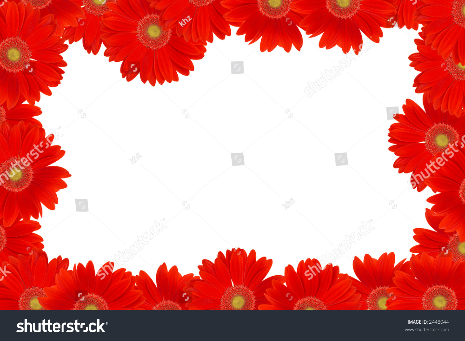 Frame red daisy flowers space messages stock photo edit now frame with red daisy flowers space for messages izmirmasajfo