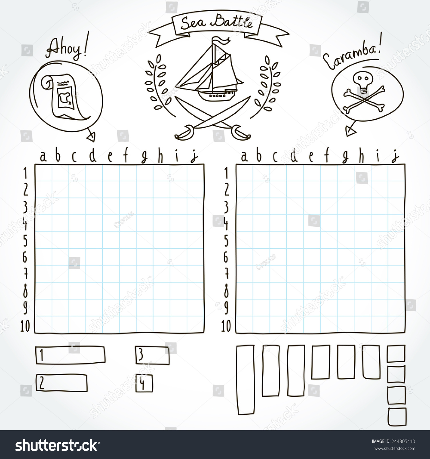 how to play sea battle board game