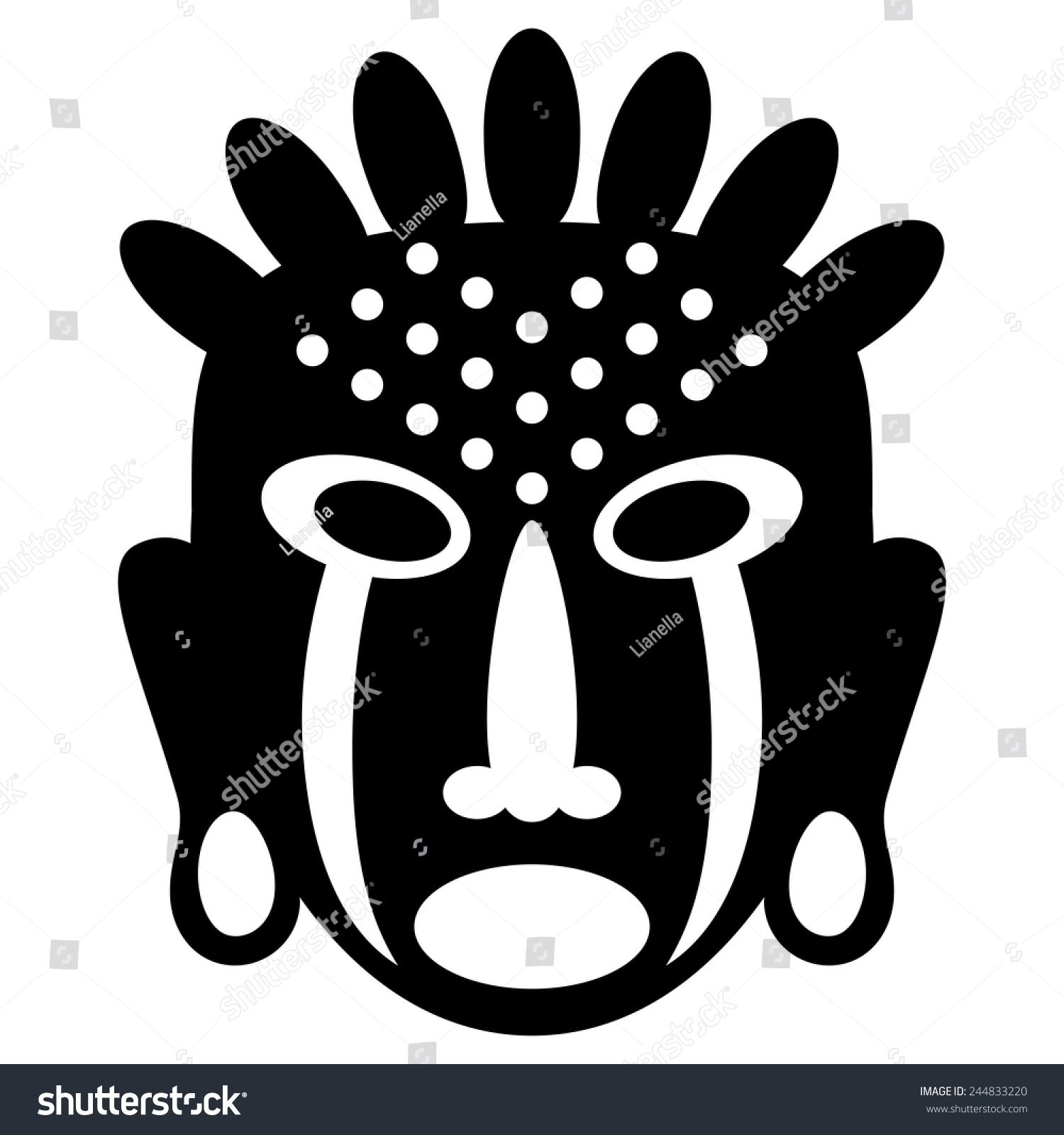 African masks isolated on white vector stock vector 244833220 vector icons for tribal designs biocorpaavc Image collections