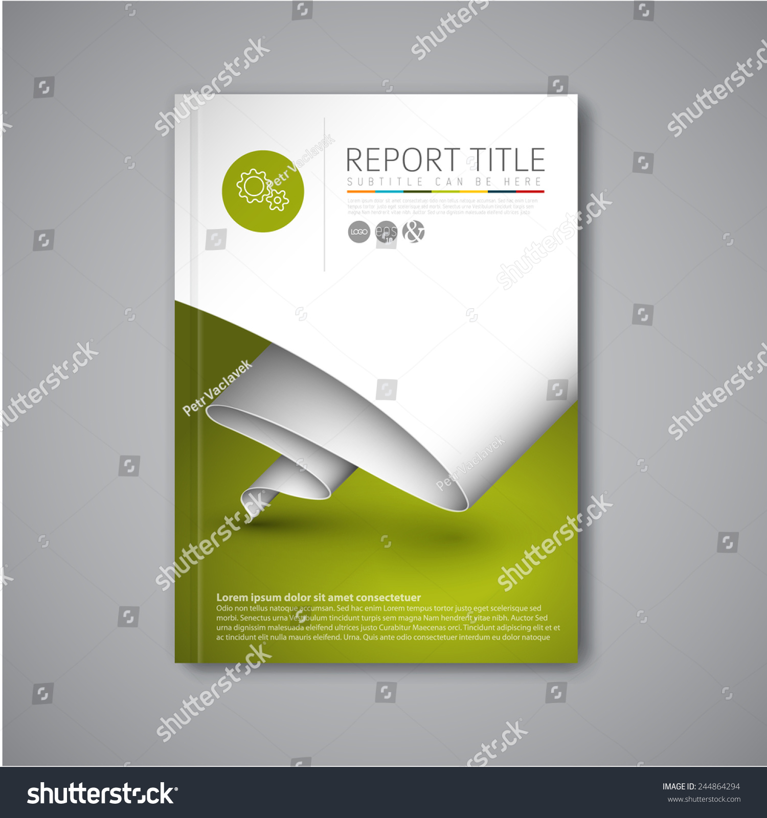 Modern vector abstract brochure book flyer design for Paper ad design templates