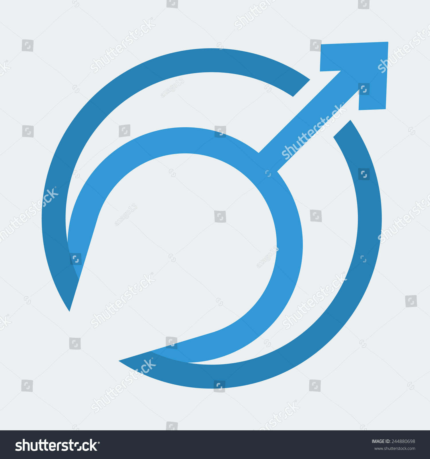 Royalty Free Mars Symbol The Symbol For A Male 244880698 Stock