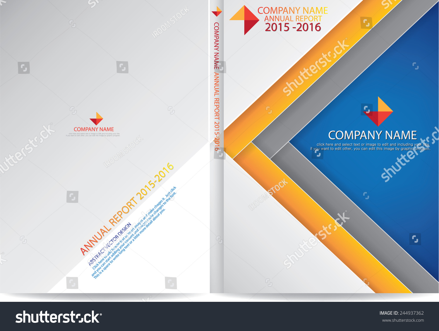 annual report cover design stock vector shutterstock annual report cover design