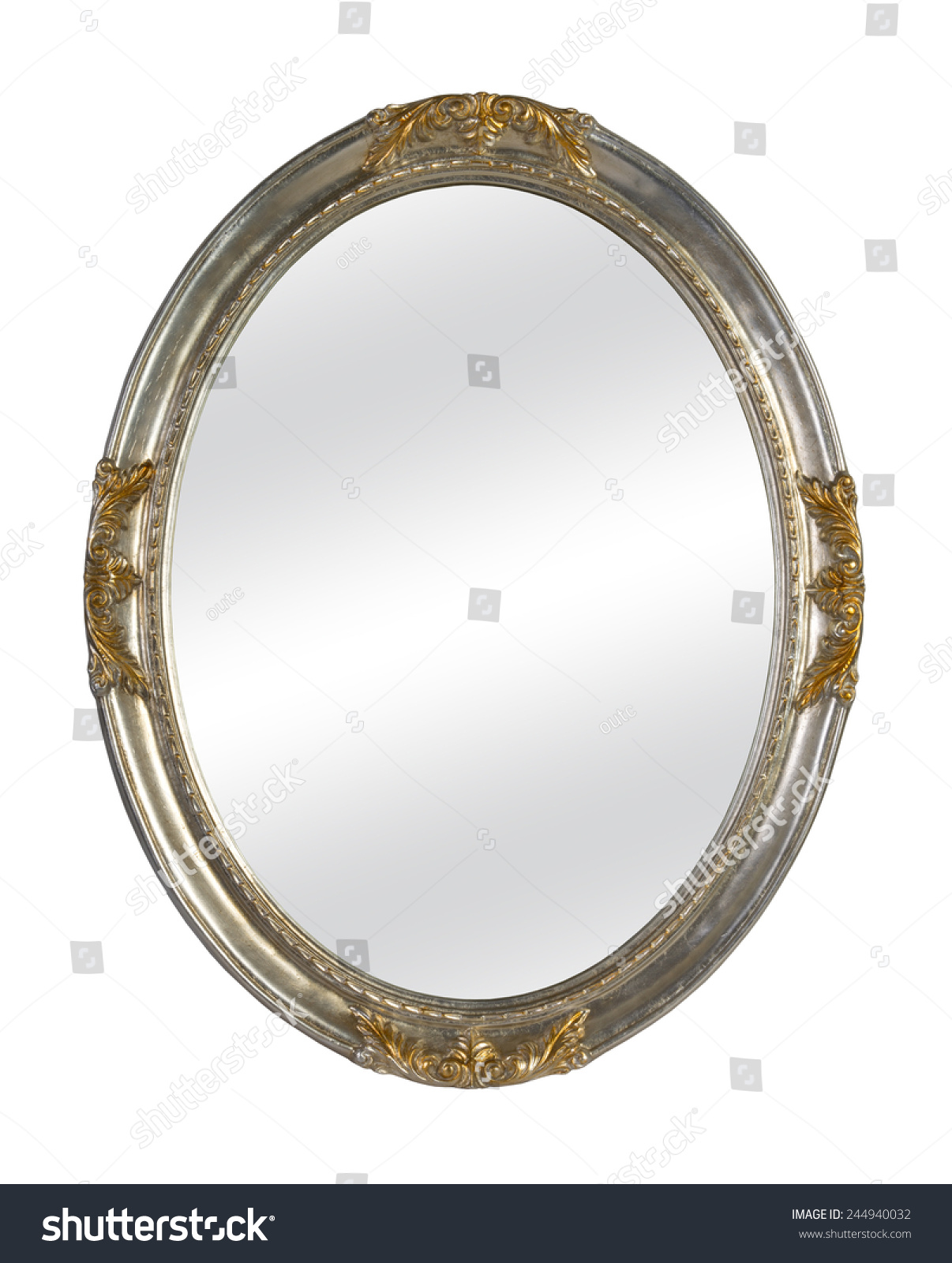 Old Mirror Vintage Frame Isolated On Stock Photo (Royalty Free ...