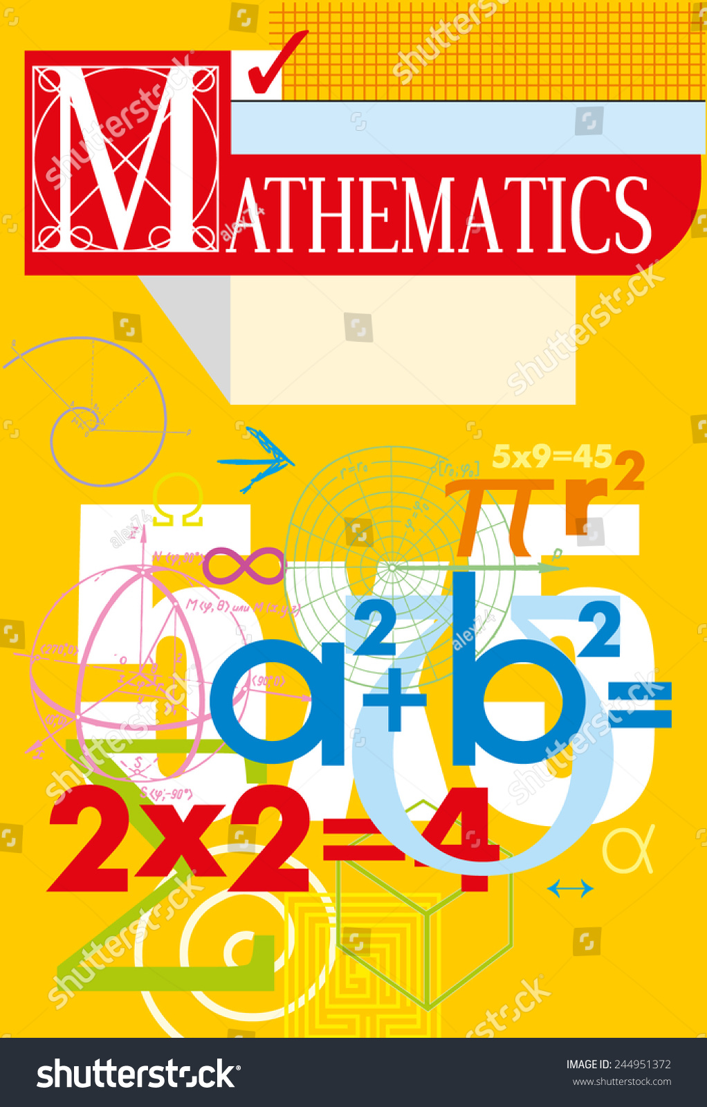 Book Cover Design Math ~ Mathematics vector cover stock shutterstock