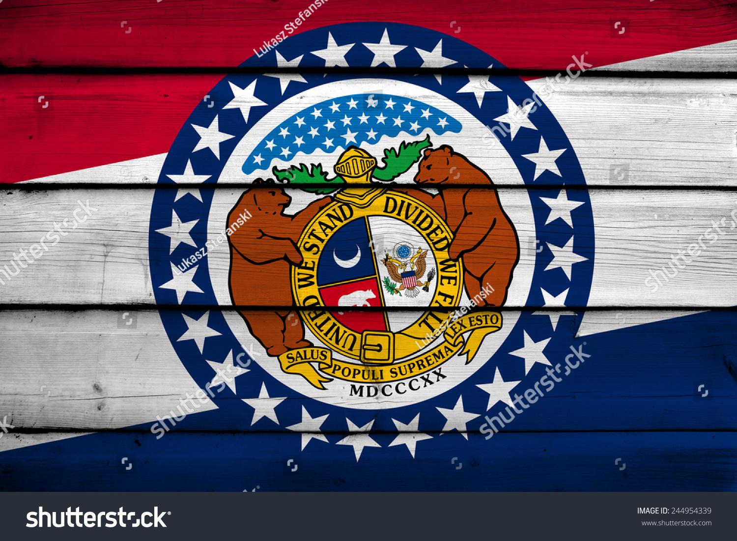Missouri state flag on wood background stock illustration missouri state flag on wood background buycottarizona