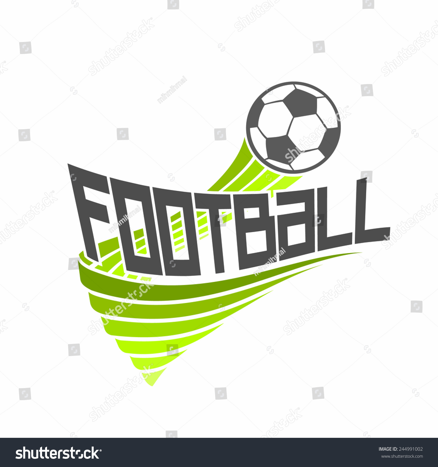 Vector logo football soccer club composition stock vector vector logo for football soccer club composition consisting of black and white soccer ball and buycottarizona