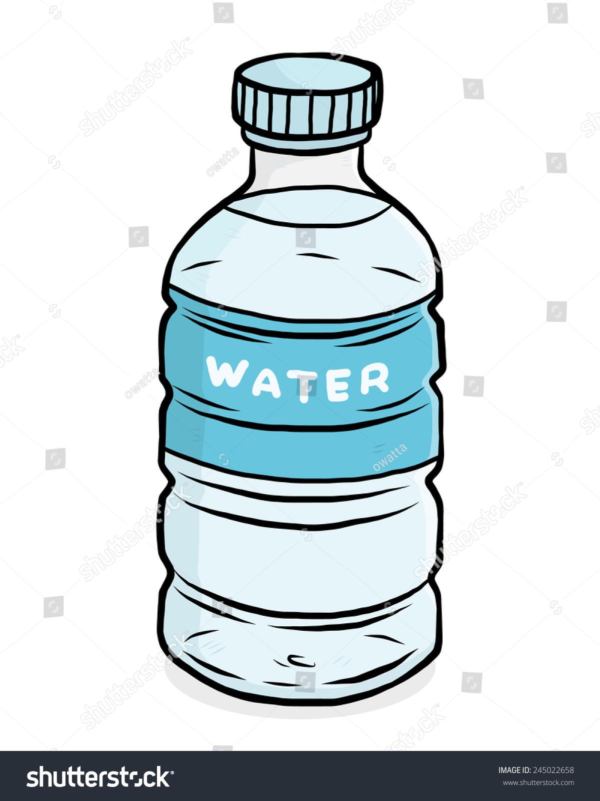 Water Plastic Bottle Cartoon Vector Illustration Stock Vector ...
