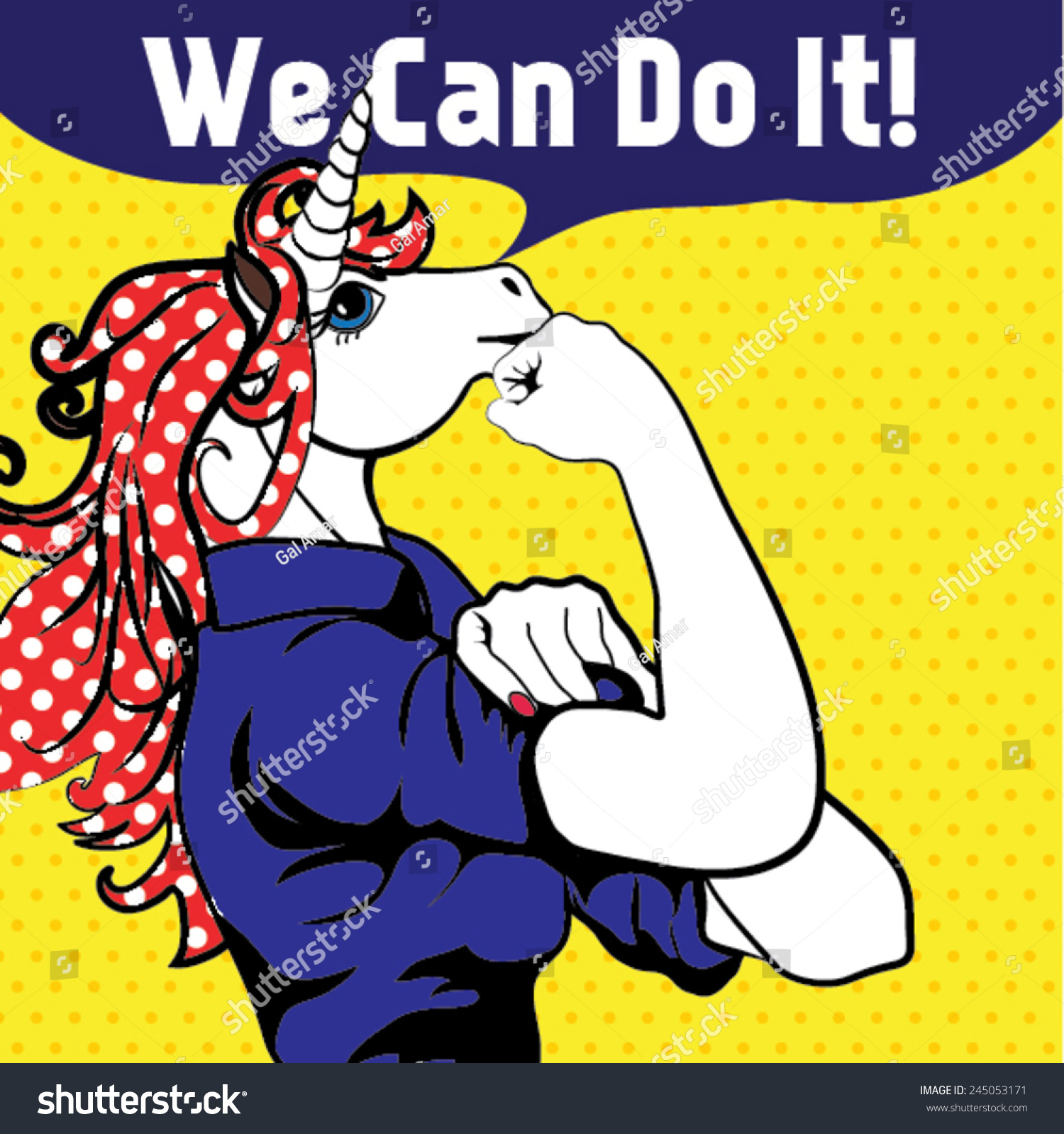 We Can Do It Iconic Womans Stock Vector Royalty Free 245053171