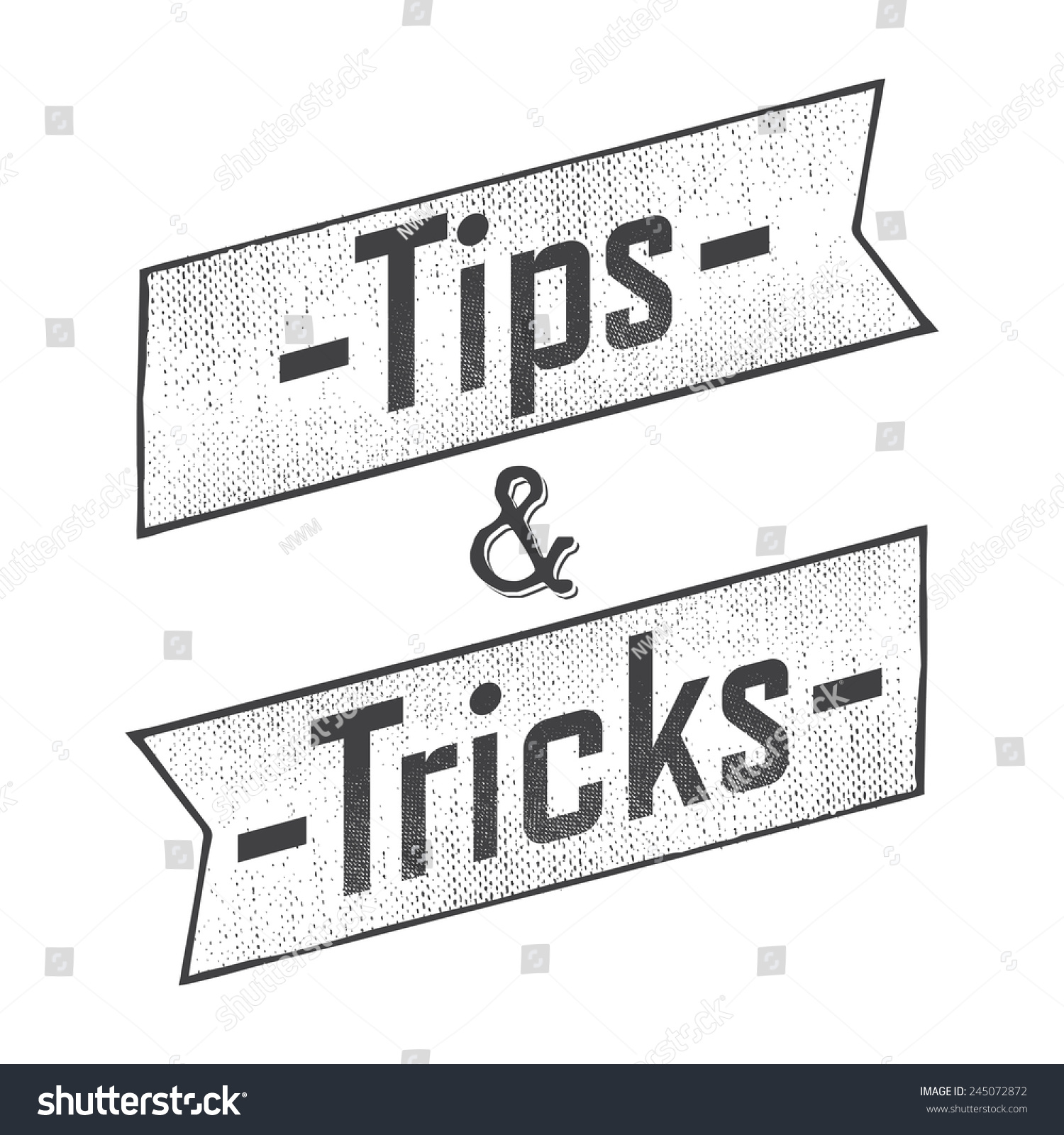 Designer Tips And Tricks For: Tips And Tricks Ribbon Old Design Stock Vector