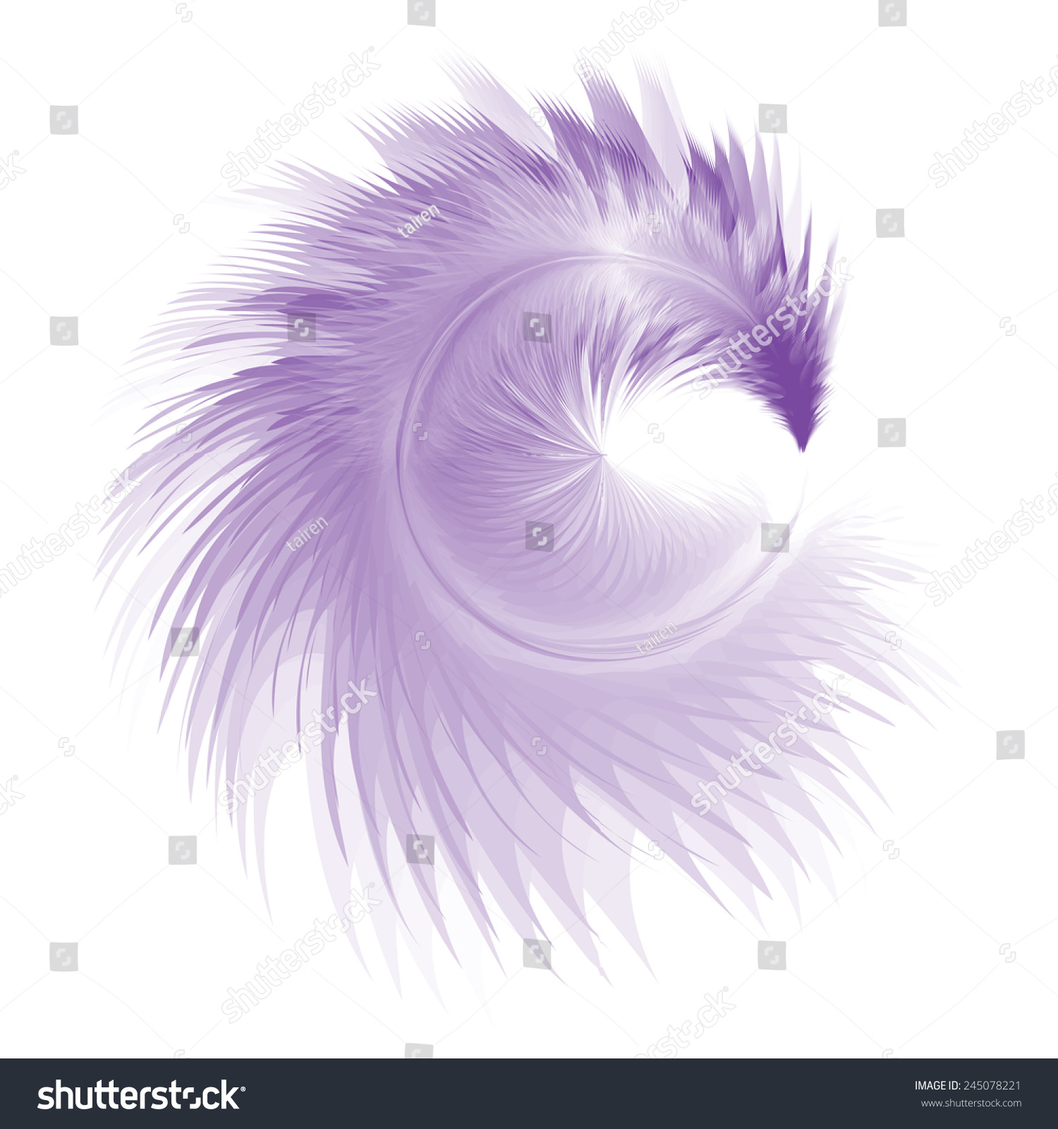 Purple Soft Realistic Feather. Eps10 Stock Vector ...