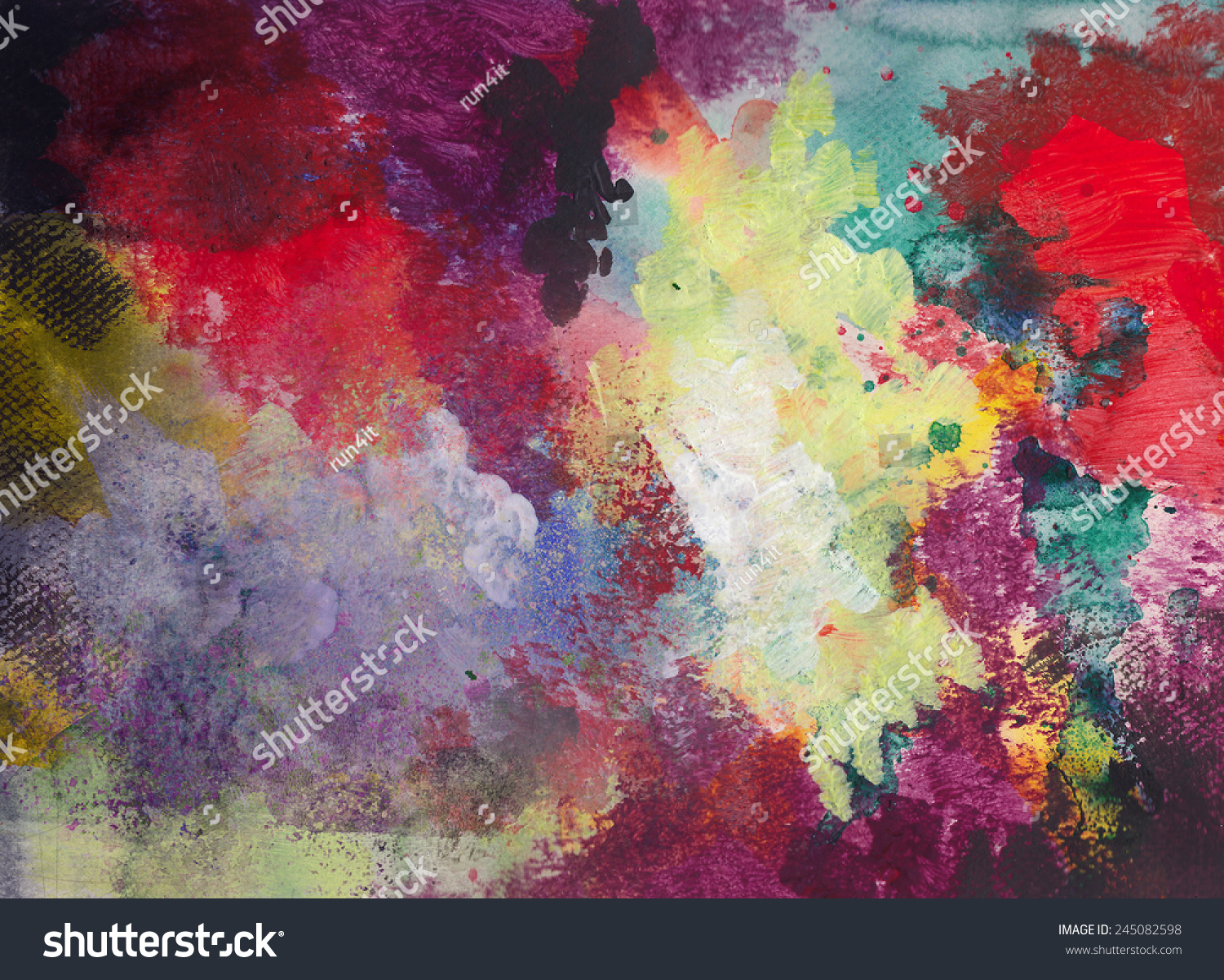 Abstract ink acrylic painting on grunge stock illustration for Acrylic painting on black background