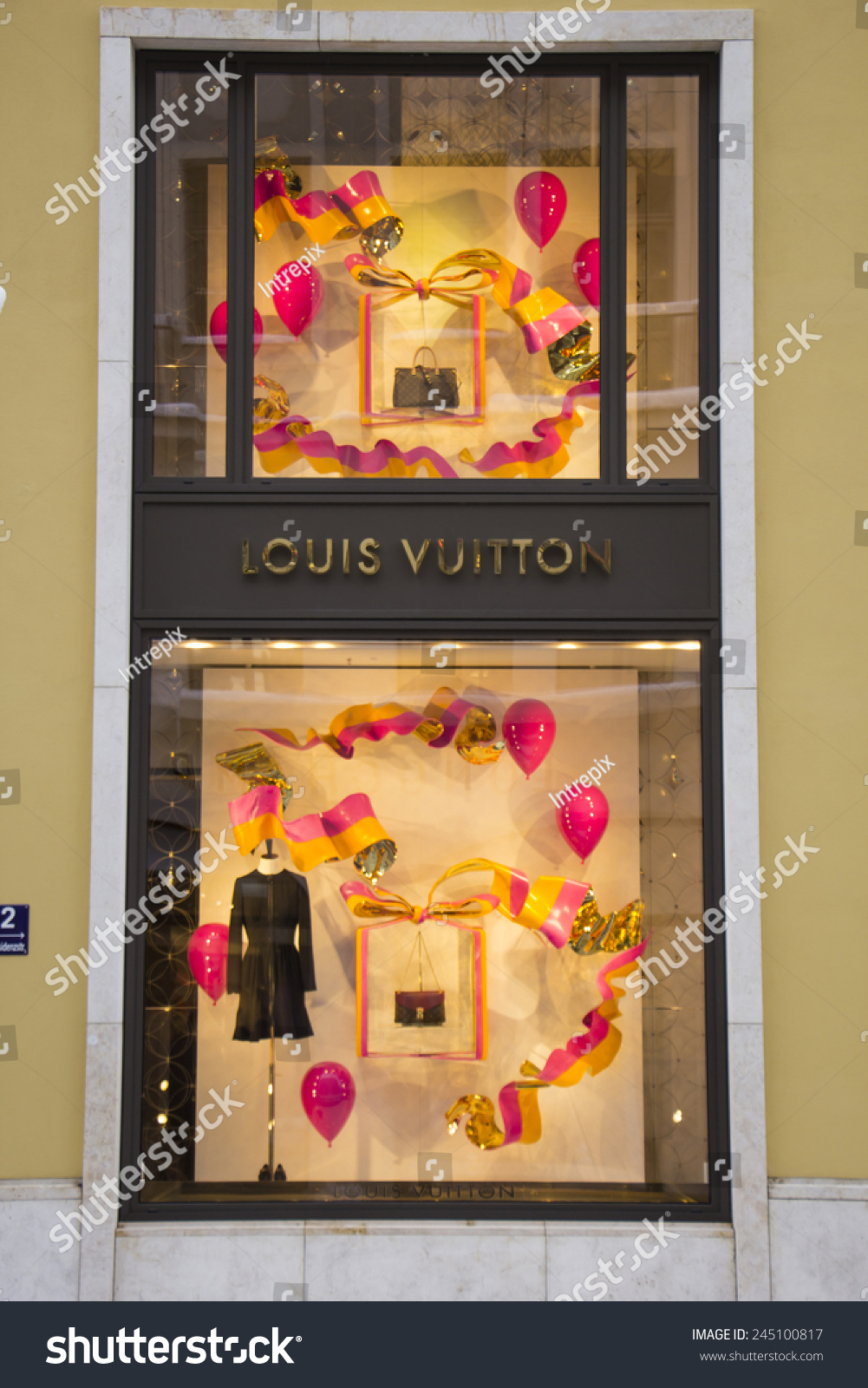 5ab842e2f68d0 MUNICH - DEC 31  Shop windows are decorated at the Louis Vuitton store in  Munich