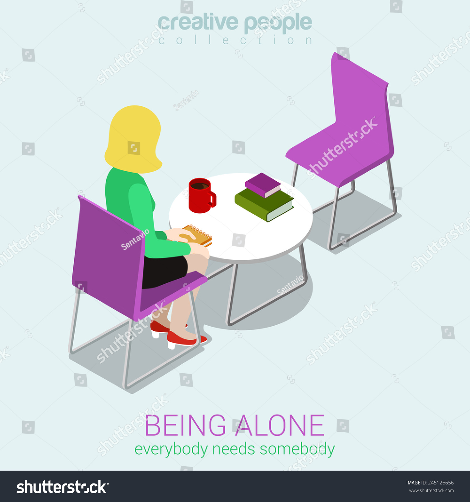an being alone creative This is often why creative people don't run away from the bad feels, but rather embrace the hell out of them so my sensitive, lonely kittens, don't fret when you're feeling like the kid all alone.