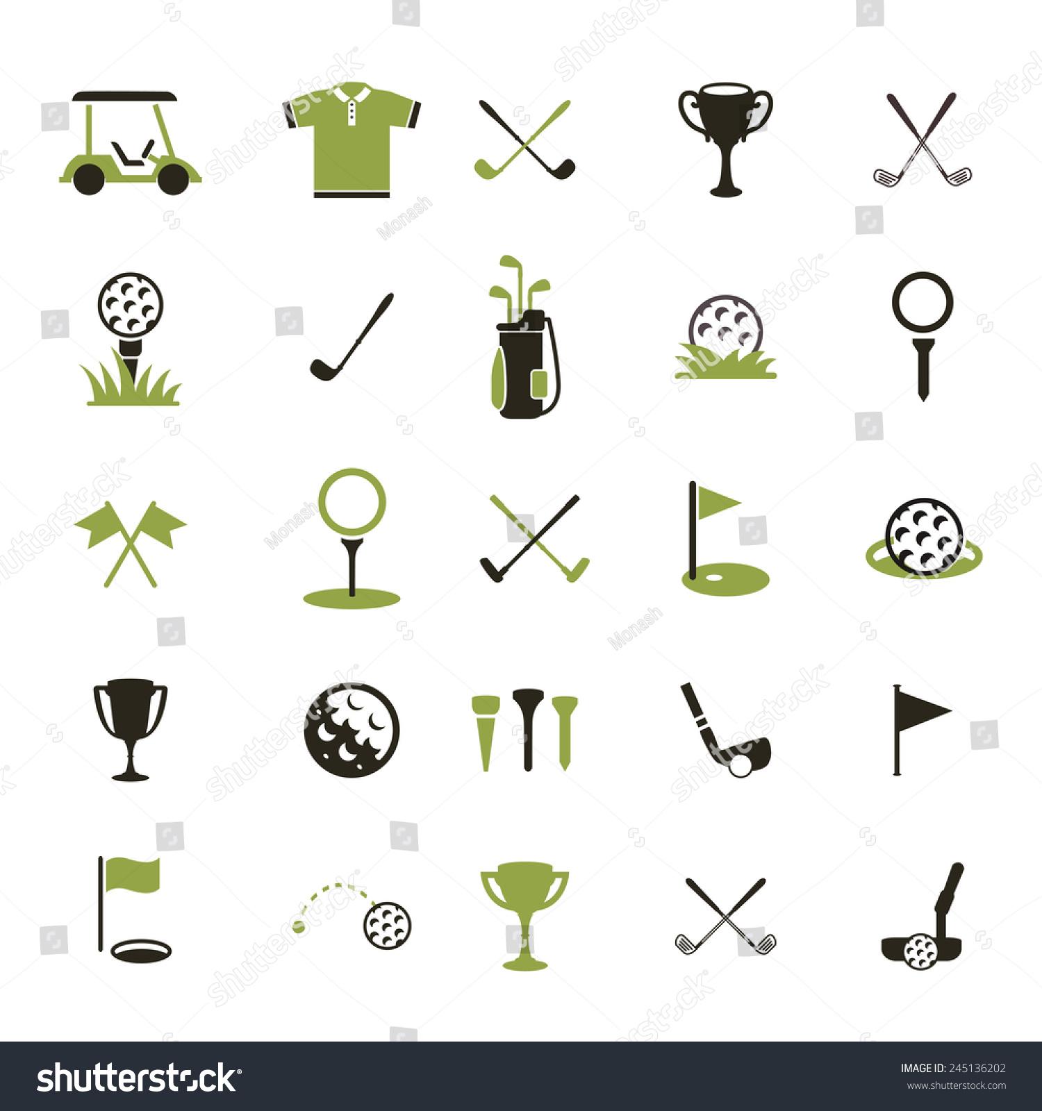 golf ball vector logo set sport stockvektorgrafik
