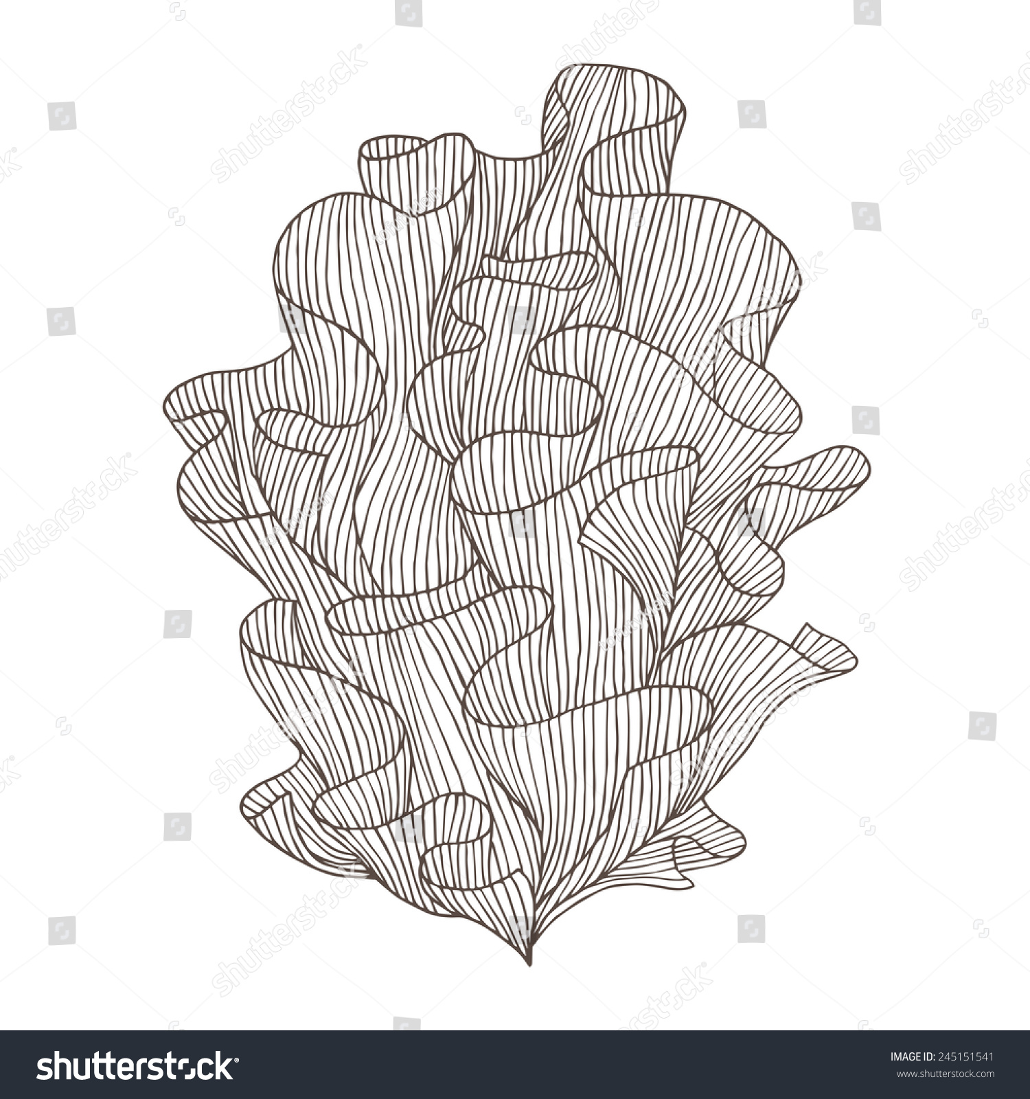 Simple underwater coloring page