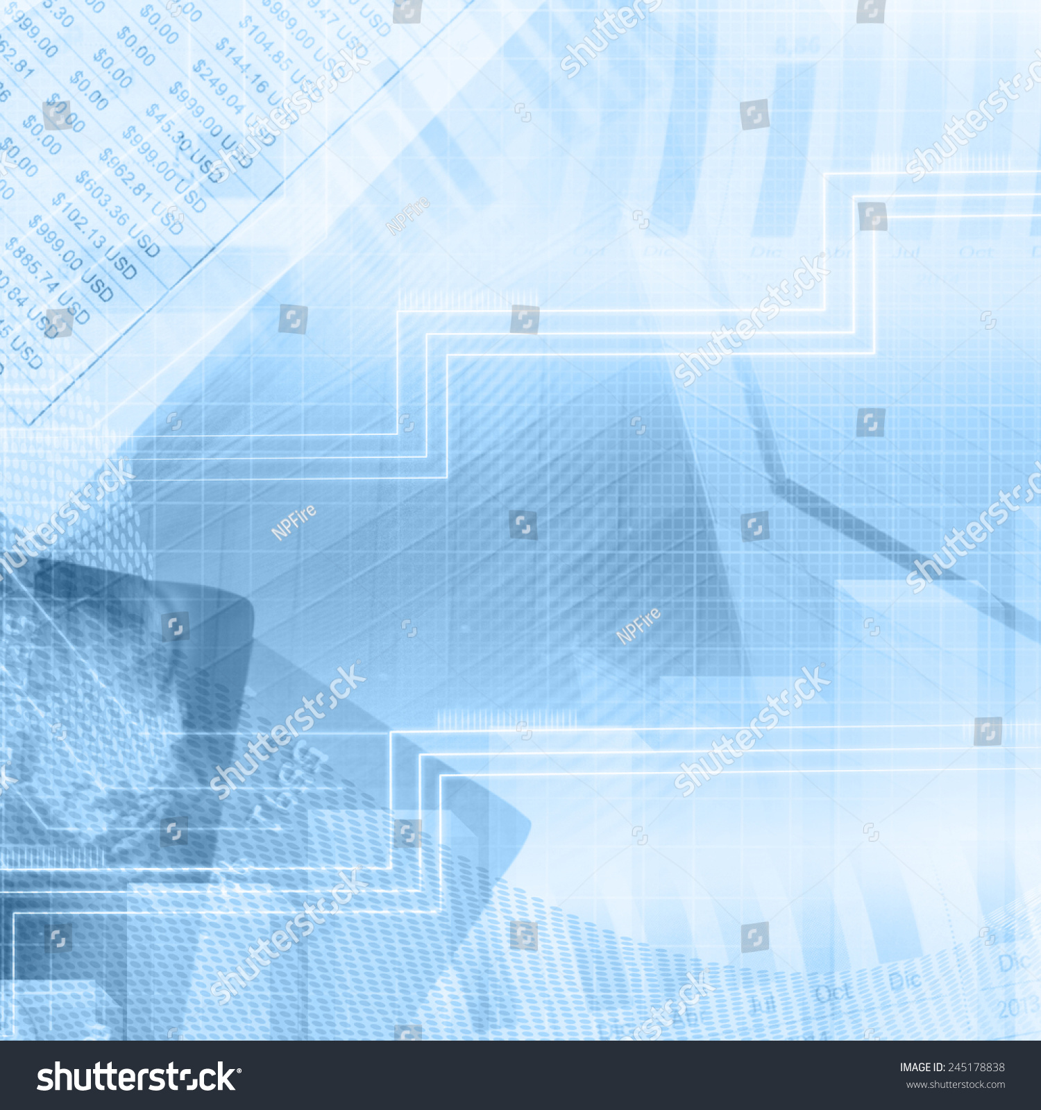 Finance Background: Finance Abstract Background Stock Photo 245178838
