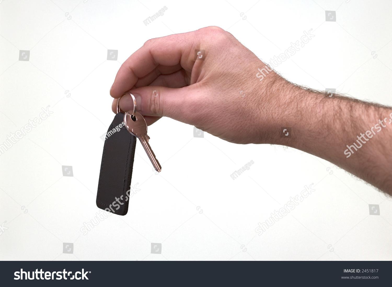 Hand Offering Set Keys On Black Stock Photo (Edit Now