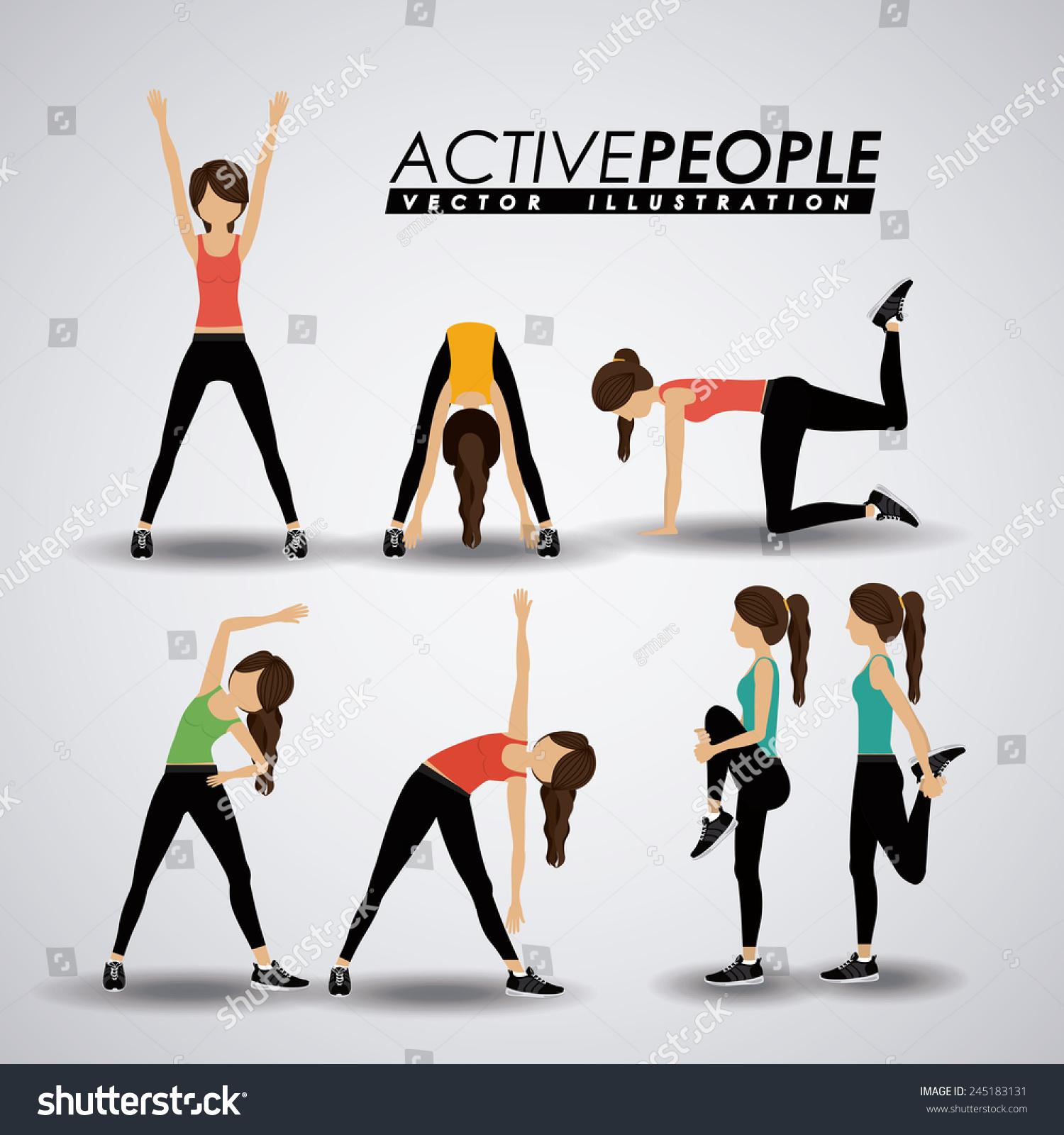 Fitness Design Over Gray Background Vector Stock Vector 245183131 ... for Physical Fitness Design  199fiz