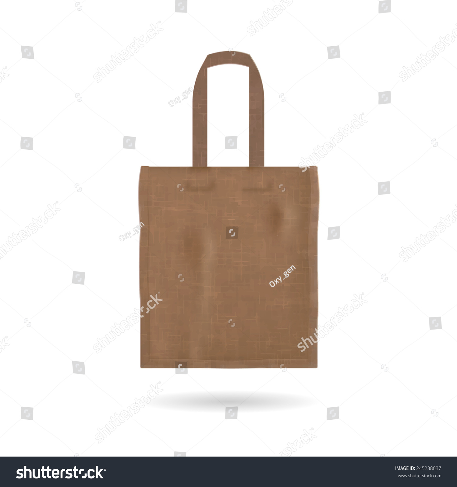 blank tote bag template isolated on stock vector royalty free