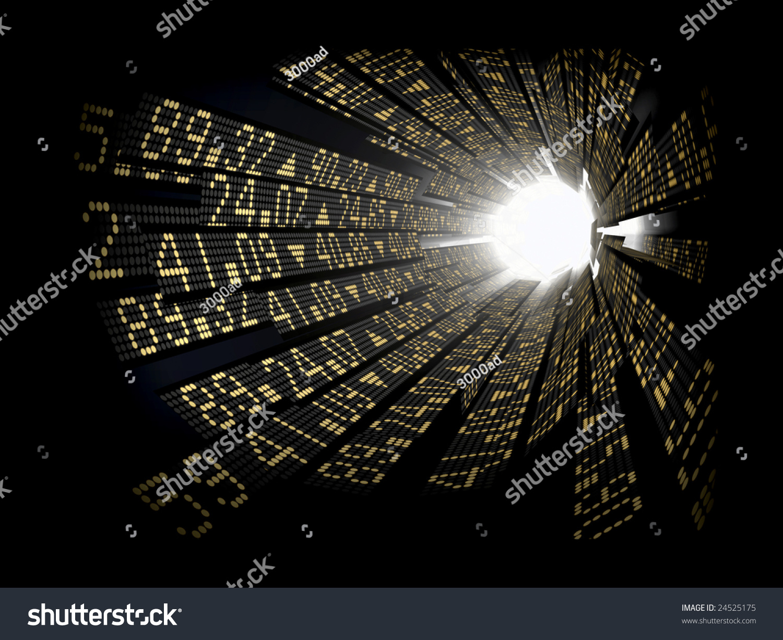 Stock Market Ticker Boards Circular Arranged Stock Photo ...