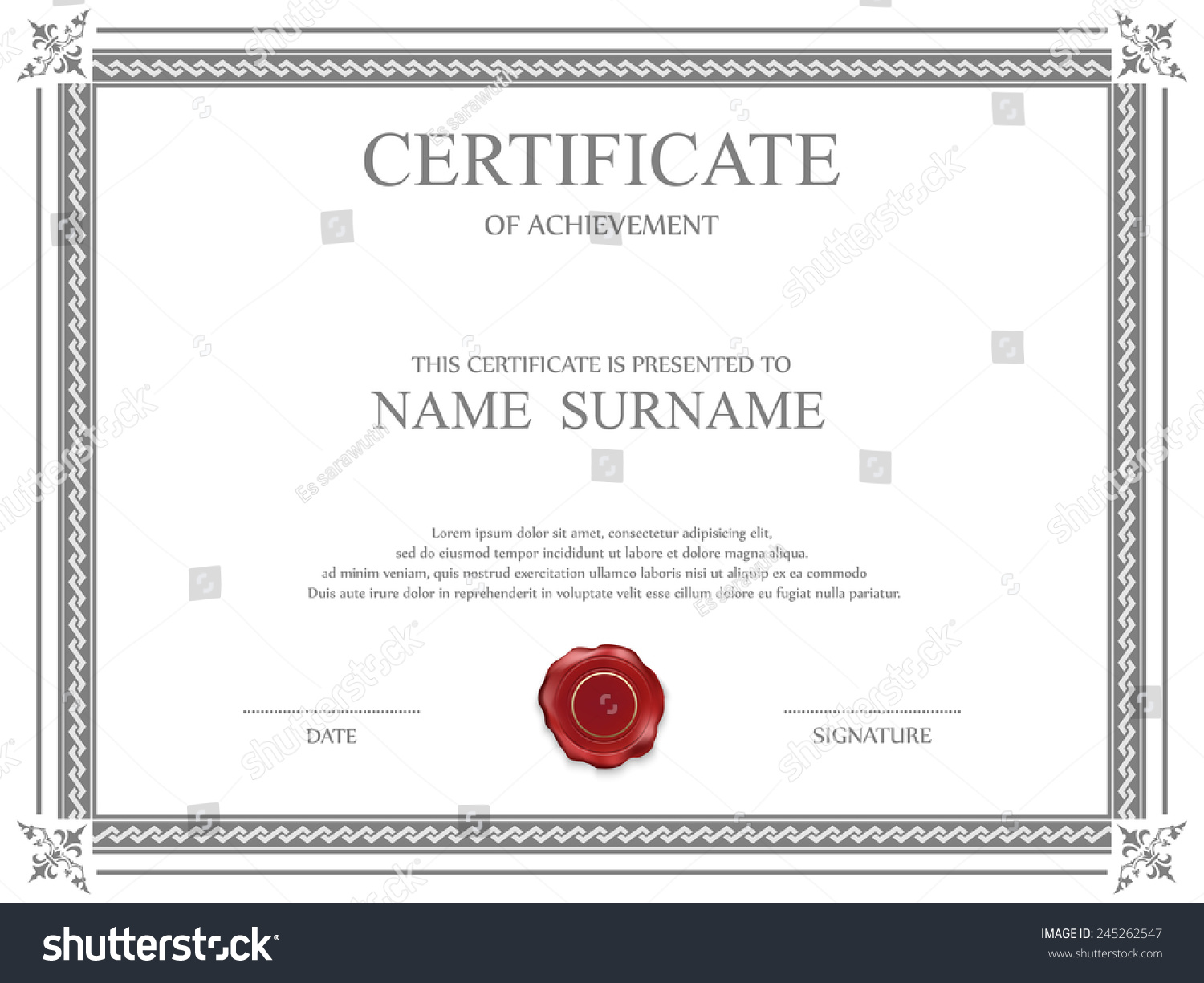 Shareholders Certificate Template Free