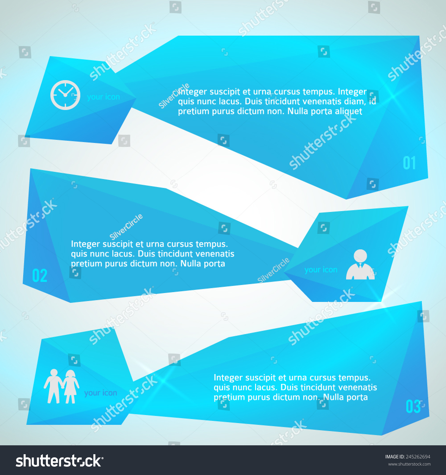 Modern Design Infographic Style Template On Stock Vector (2018 ...