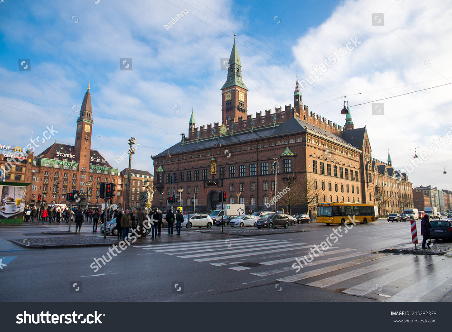 copenhagen denmark december 30 2014 city stock photo 245282338 shutterstock. Black Bedroom Furniture Sets. Home Design Ideas