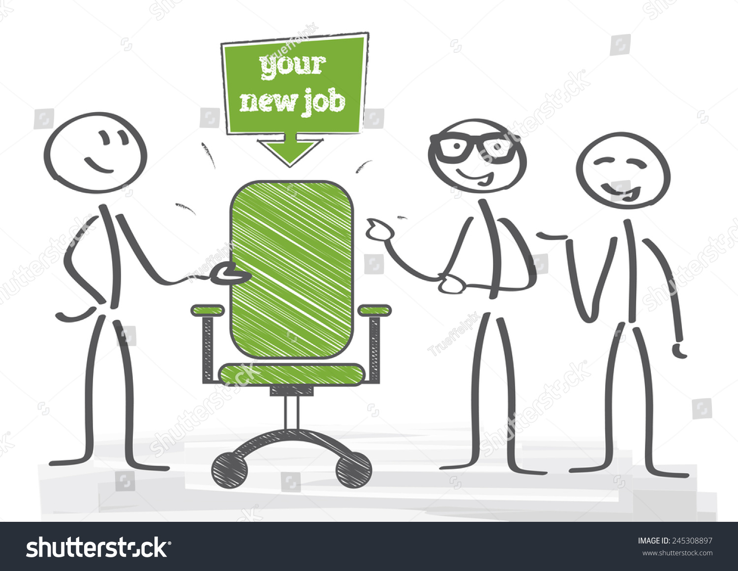 start new career your new job stock vector illustration  start new career your new job preview save to a lightbox
