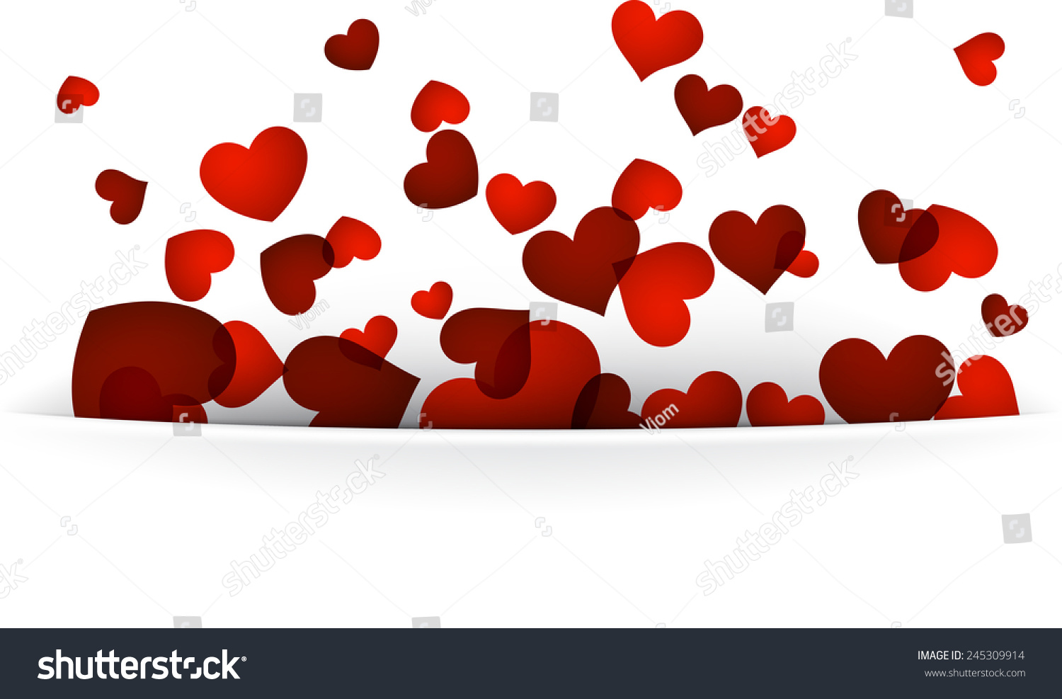Love Background Red Hearts Valentines Greeting Stock Vector