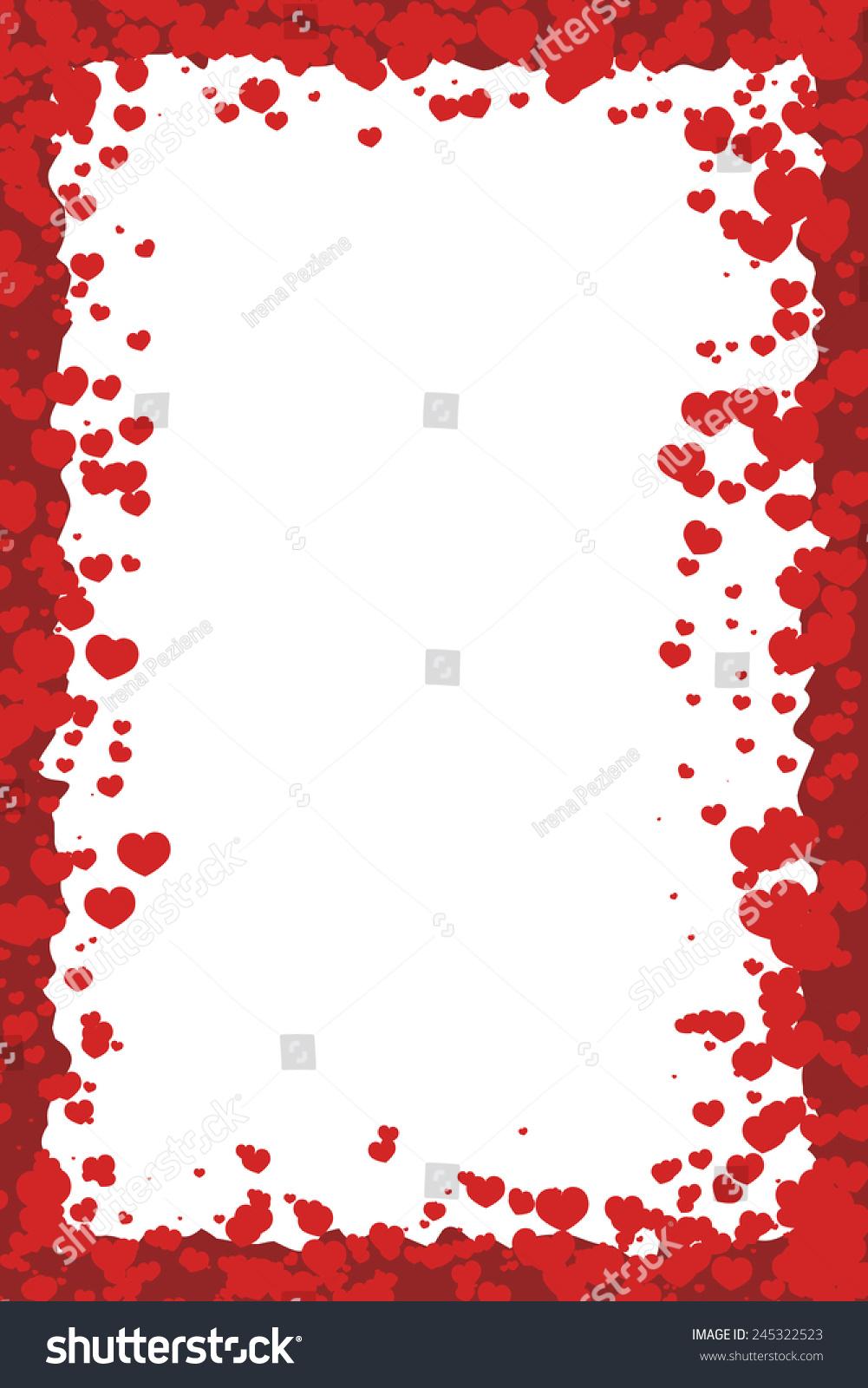 Valentines Day Border Hearts Stock Vector Royalty Free 245322523