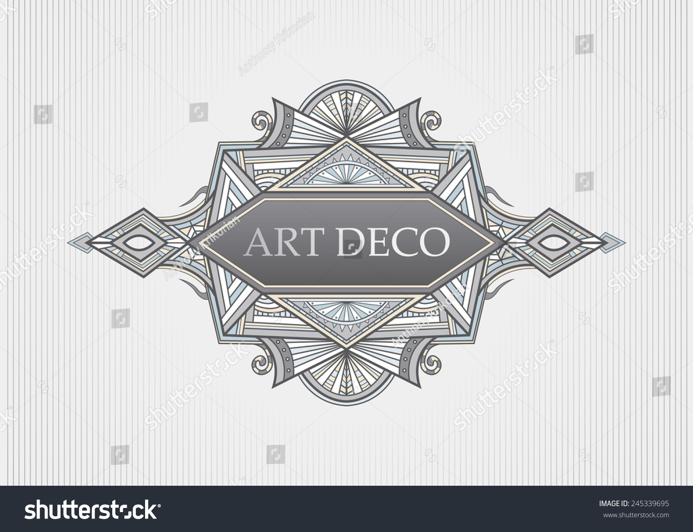 art deco menu title cover page stock vector 245339695 shutterstock art deco menu title cover page frame vector art