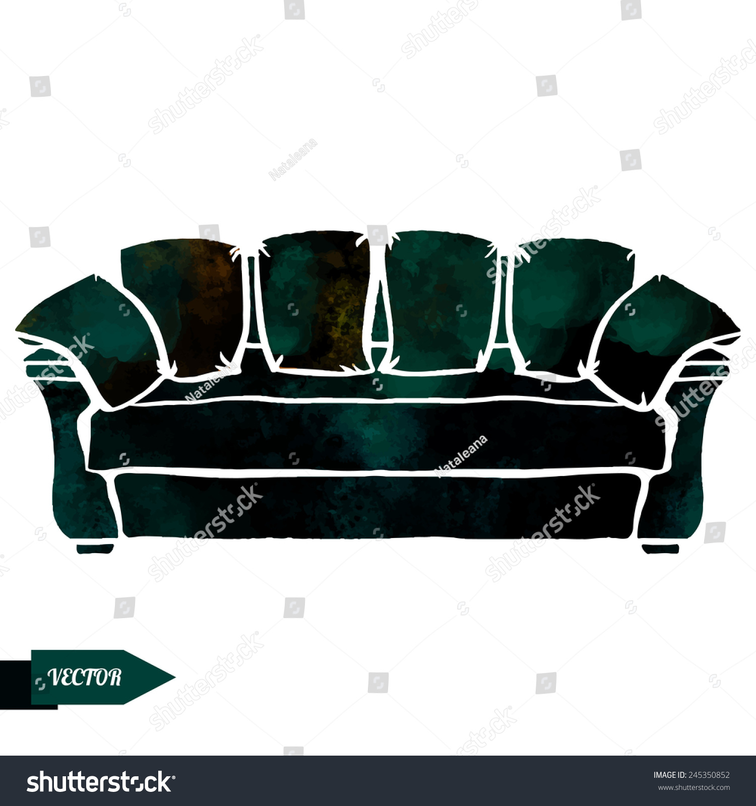 https://image.shutterstock.com/z/stock-vector-watercolor-modern-black-leather-sofa-with-pillows-closeup-isolated-on-a-white-background-245350852.jpg