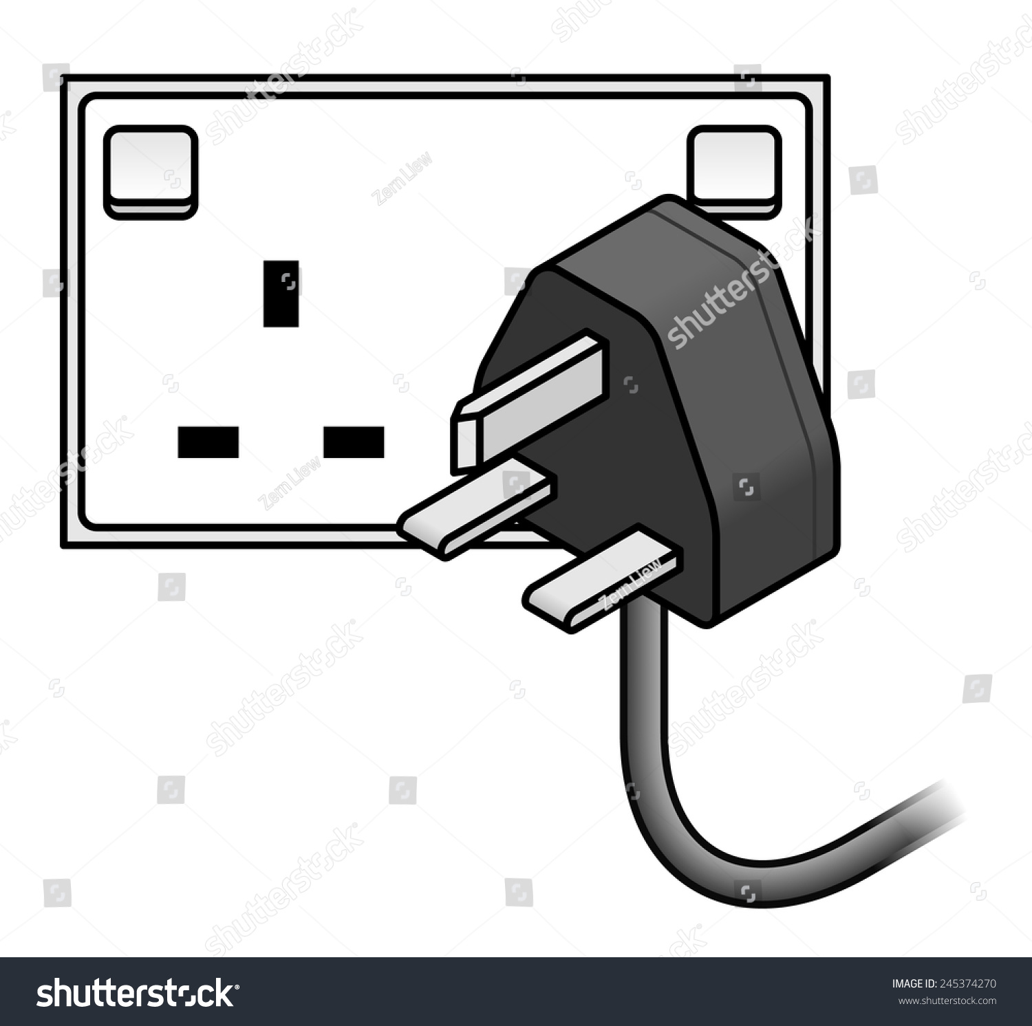 International AC Power Plug Wall Socket Stock Vector (Royalty Free