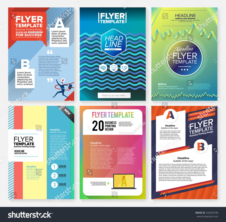 Set Flyer Brochure Design Templates Geometric Stock Vector Royalty