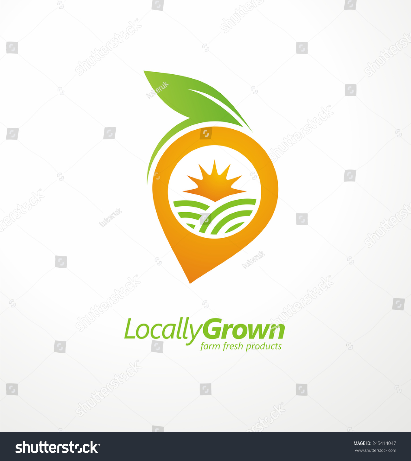 Locally Grown Food From Local Farmers Vector Label ...