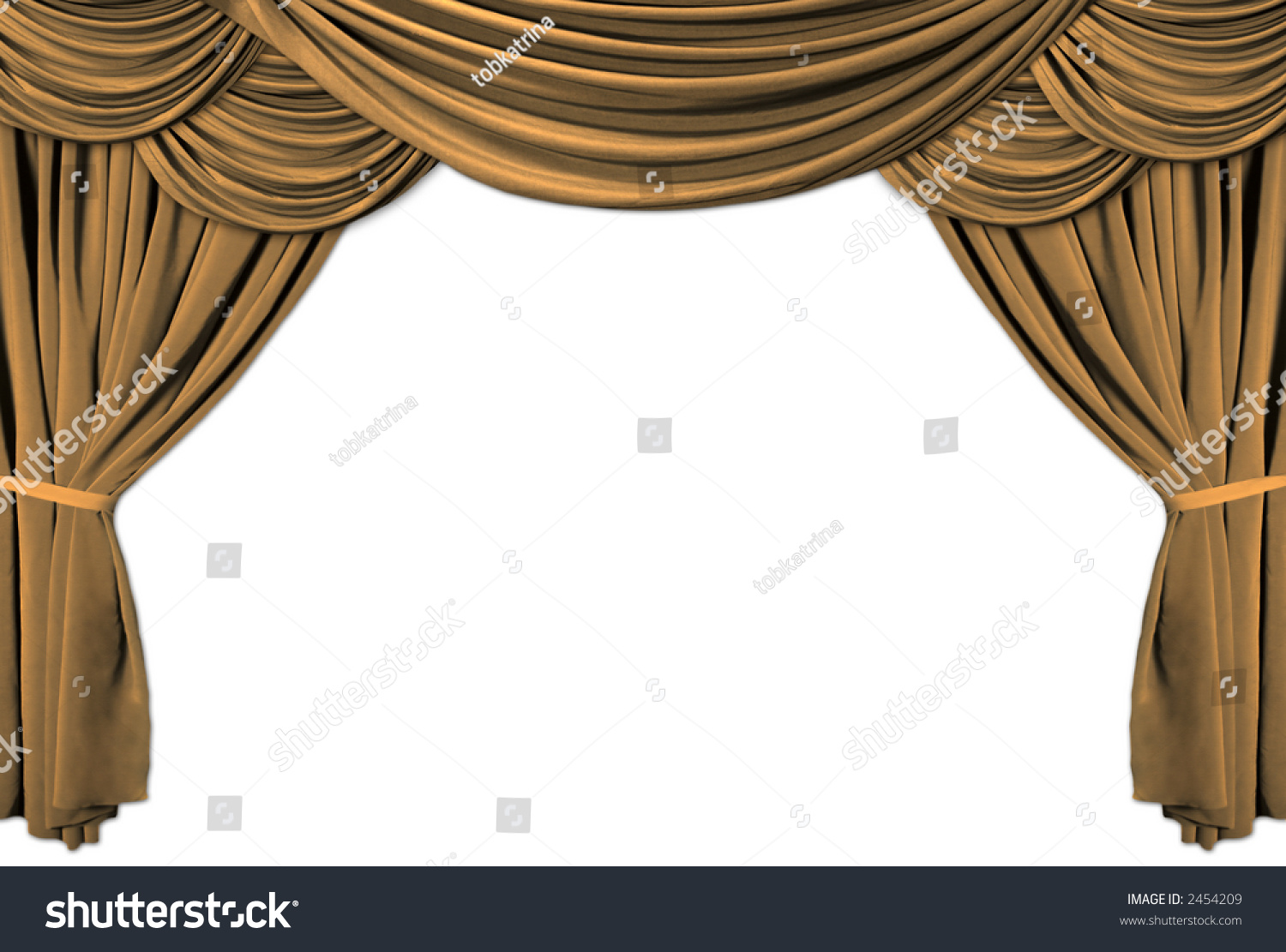 Stock photo dramatic red old fashioned elegant theater stage stock - Old Fashioned Elegant Theater Stage With Gold Velvet Curtains