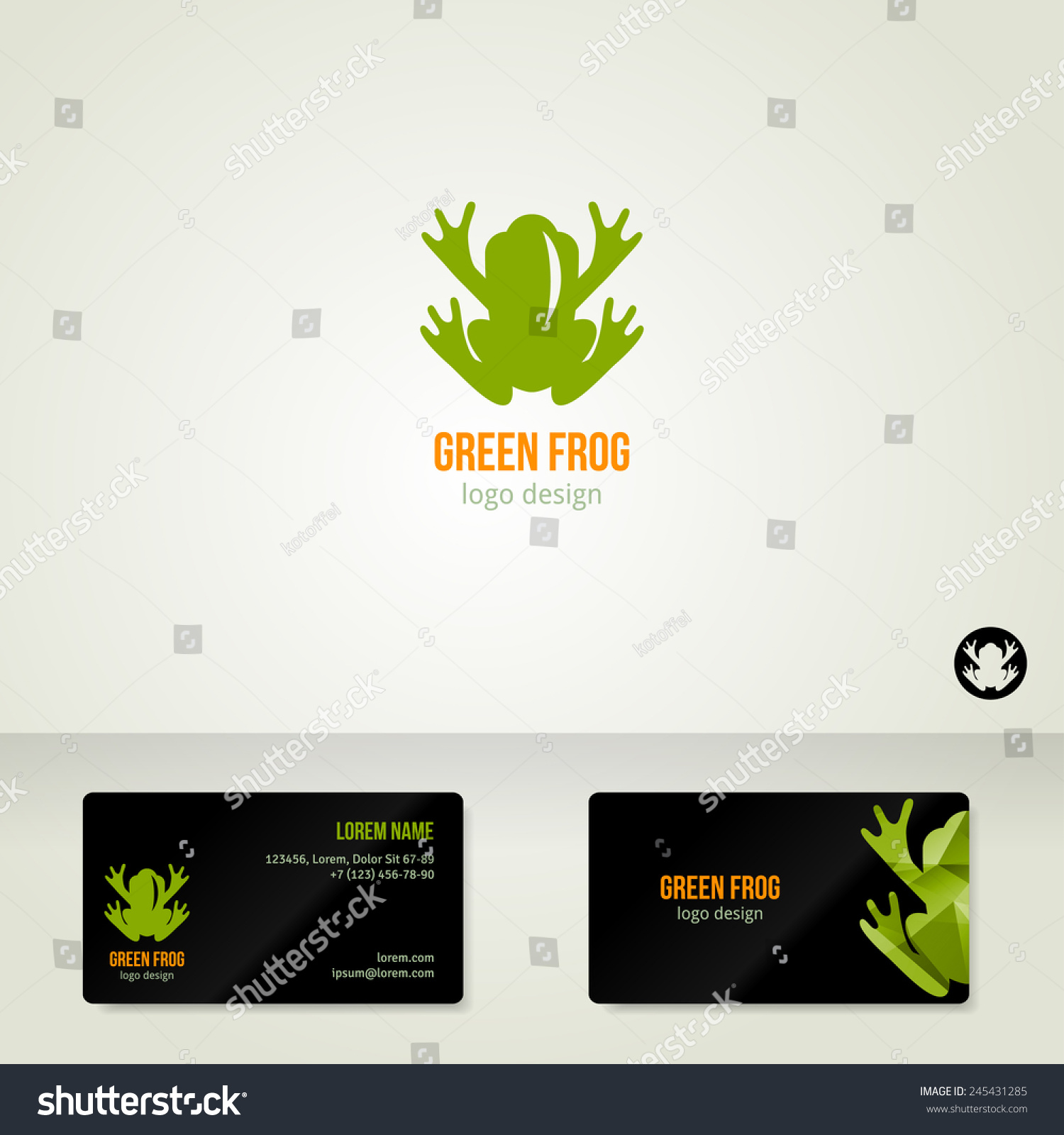 Logo design green frog vector illustration stock vector 245431285 logo design with green frog vector illustration business cards template ecological theme magicingreecefo Gallery