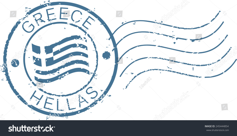 Postal grunge stamp greece stock vector 245444854 shutterstock postal grunge stamp greece ccuart Choice Image