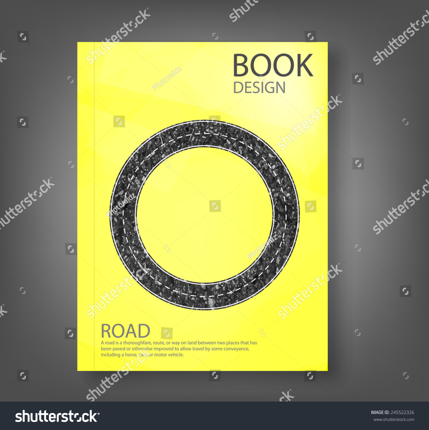 Report Cover Road Blank Badges Labels Stock Vector (Royalty Free