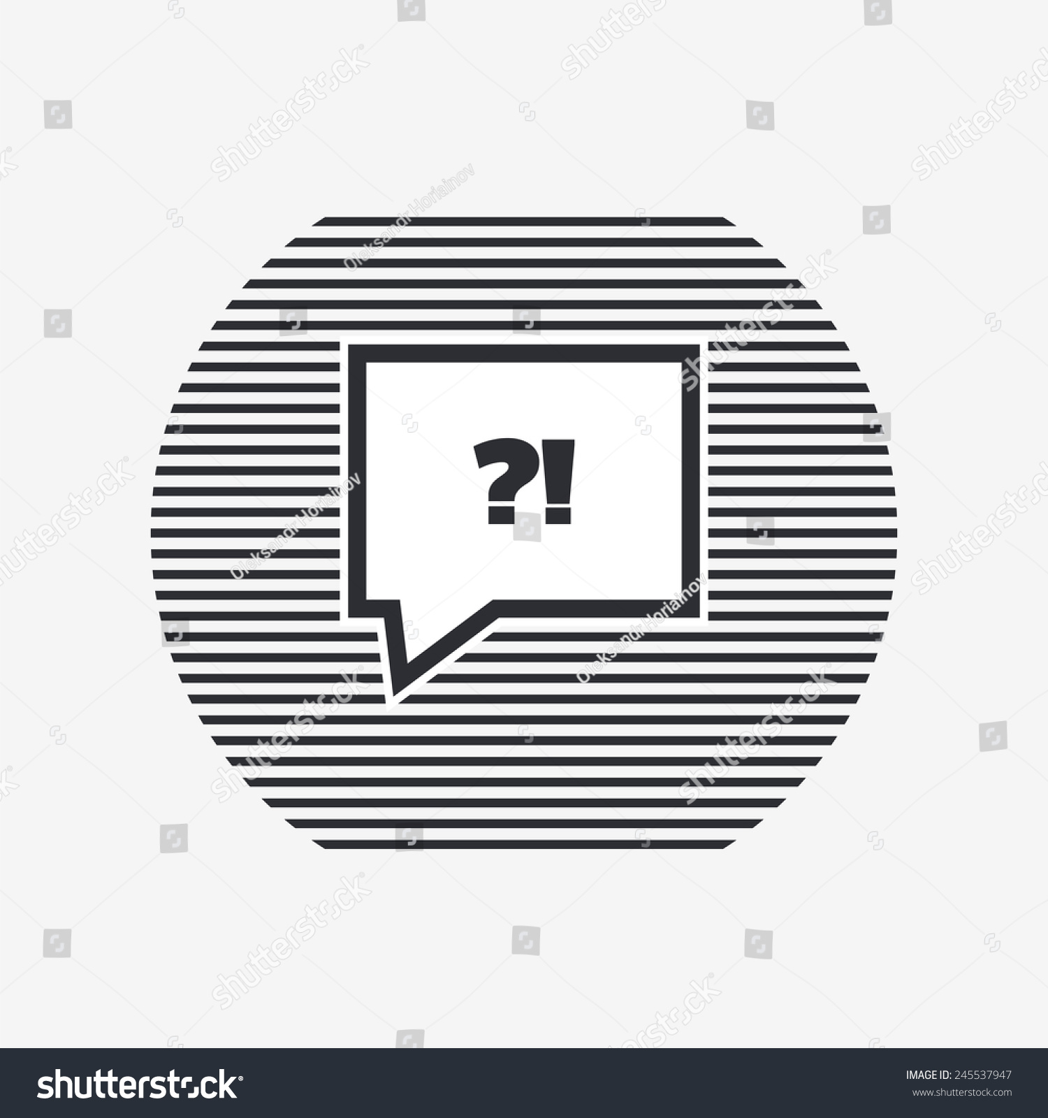 Exclamation and question mark in speech bubble symbol Flat design style Made in vector illustration