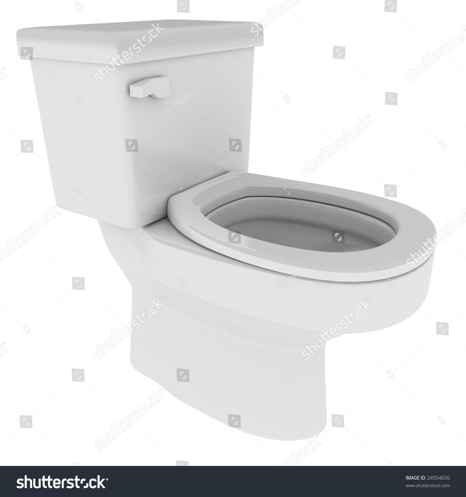 White 3d toilet model isolated stock illustration 24554650 shutterstock - Toilet model ...