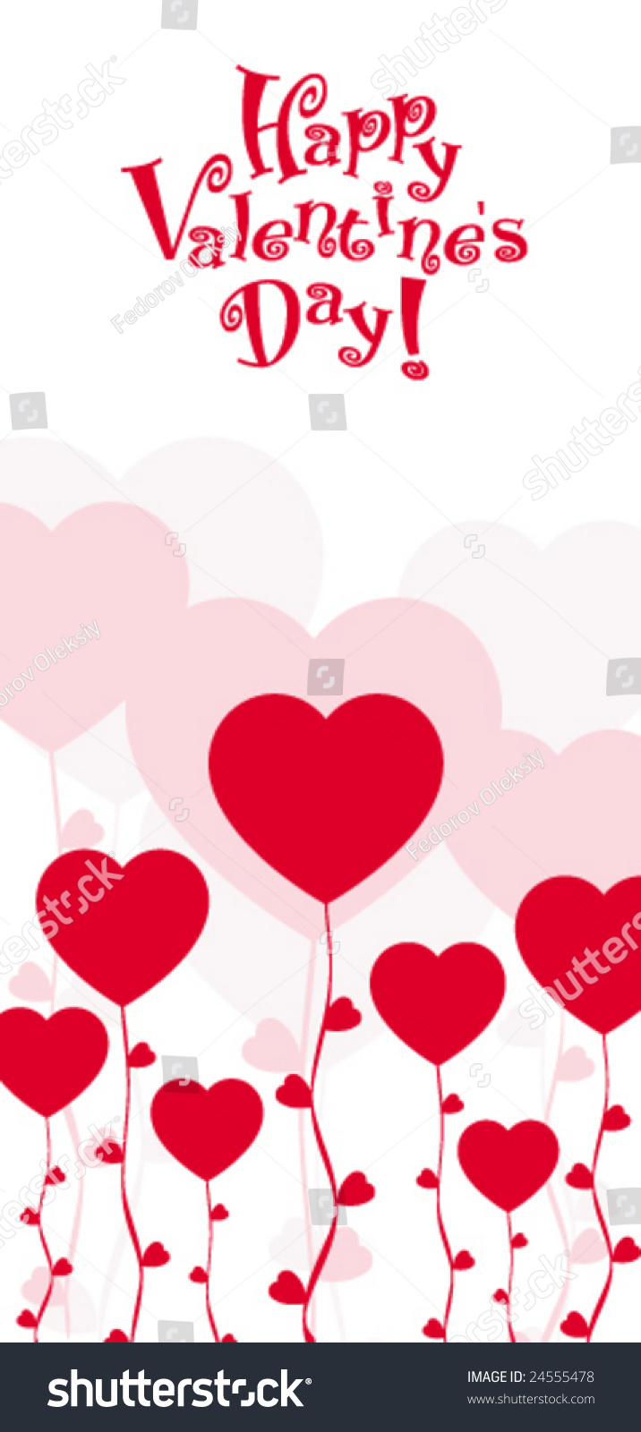 Happy Valentine'S Day Card. Stock Vector Illustration ...