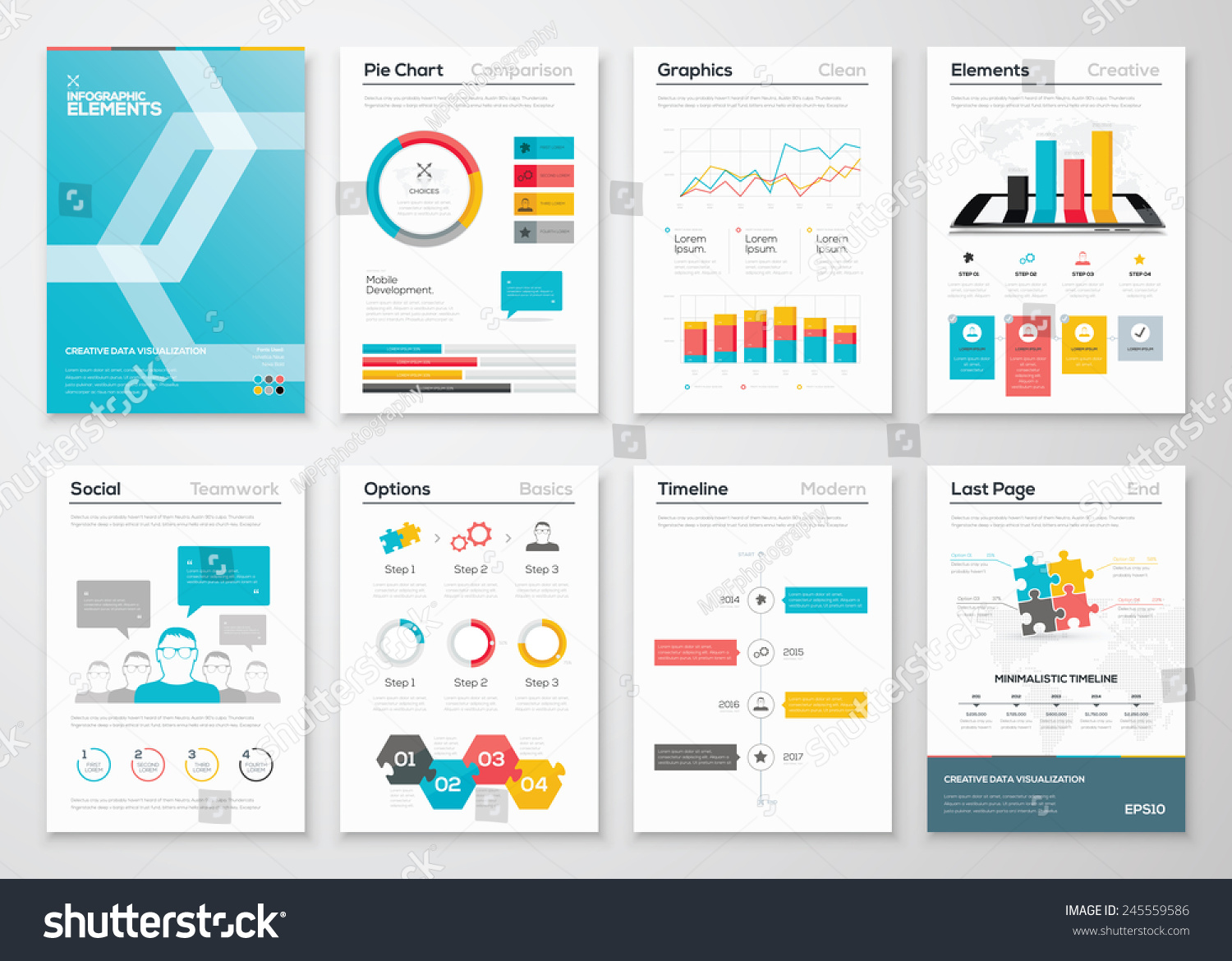 brochure website templates - infographic flyer brochure designs web templates stock
