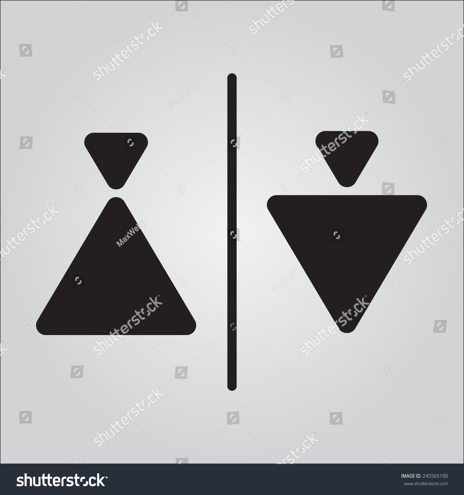 Vector Triangle Elements Sign Restroom 245565100 Shutterstock