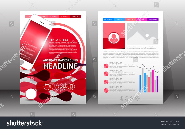 Flyer Brochure Booklet Design Templates Front Stock Vector ...